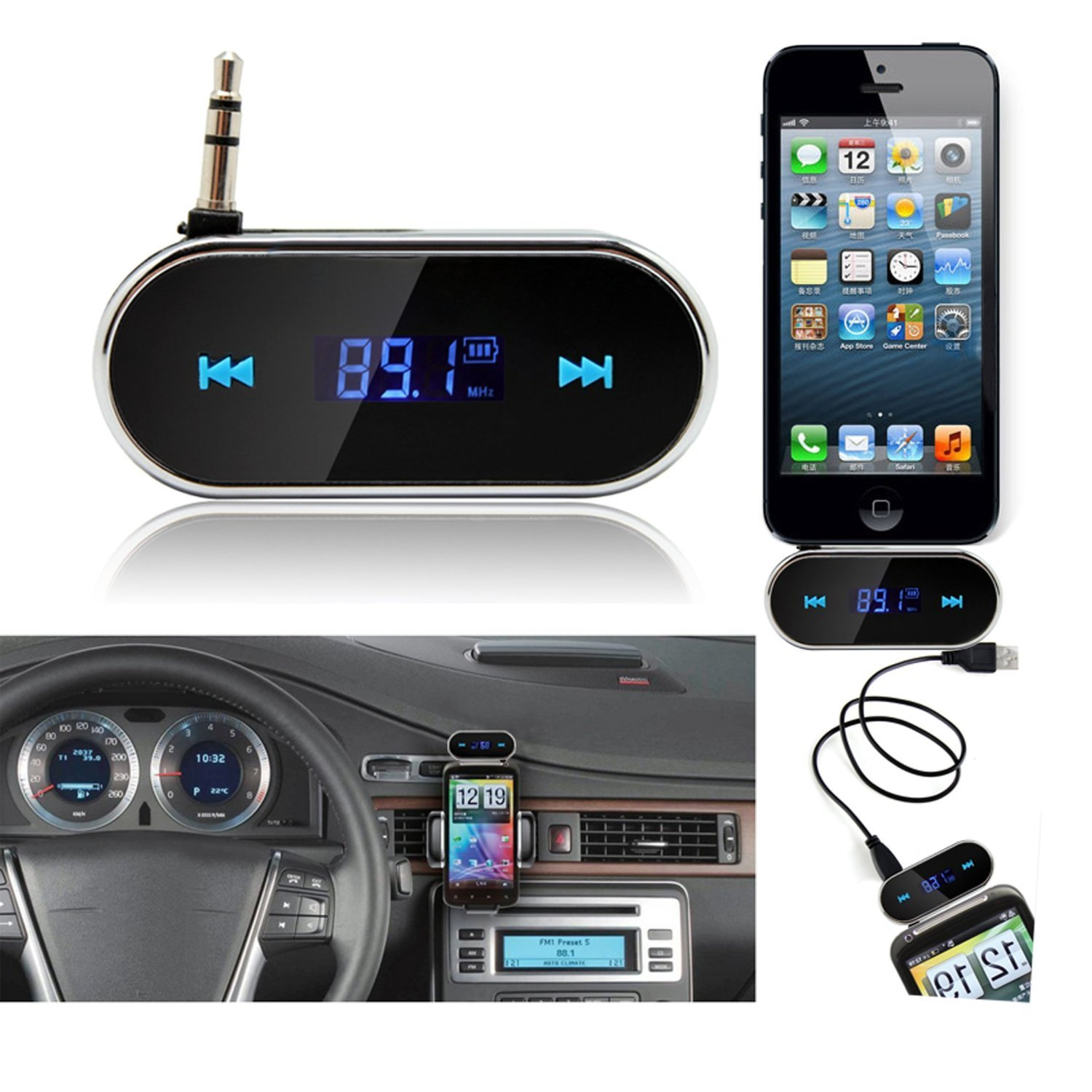Electronics Bluetooth Fm Transmitter Universal 35 Mm In Car For Mobile Phones Wireless Iphone Samsung Sony Lg Htc Ipod Touch Ipad